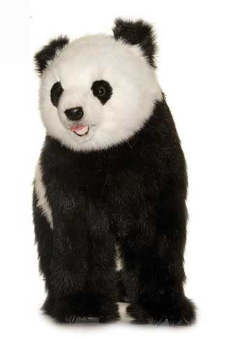 Hansa 4543 Panda Bear on All Fours Plush Stuffed Animal