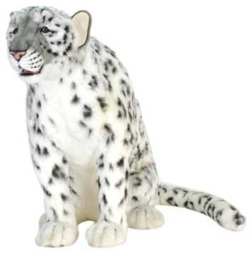 Hansa 5319 Snow Leopard Sitting Plush Stuffed Animal