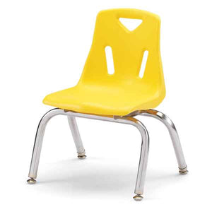 Jonti-Craft 14 in. Stack Chair, 6-Pack - Yellow - The Creativity Institute