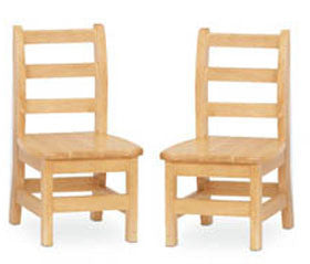 "Jonti-Craft 5910JC2 KYDZ Ladderback Chairs 10"" Seat Height - Set of 2"
