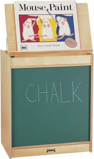 Jonti-Craft 0542JC Big Book Easel - Chalkboard Surface