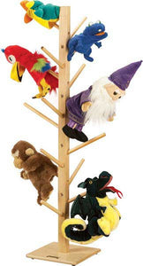 Jonti-Craft 0499JC Wooden Puppet Tree 16-Puppet Stand