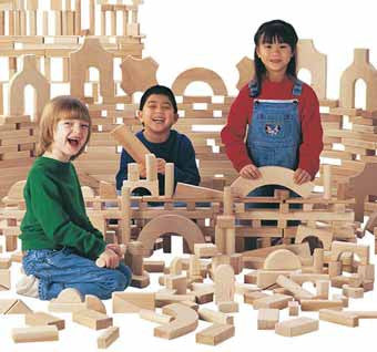 Jonti-Craft 0262JC Unit Blocks Junior Set of 220 Building Blocks
