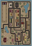 "Joy Carpets Tiny Town 7'8"" x 10'9"" Area Rug - Sandstone"