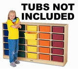 Jonti-Craft 4025JC 25-Tub Mobile Storage -WITHOUT TUBS