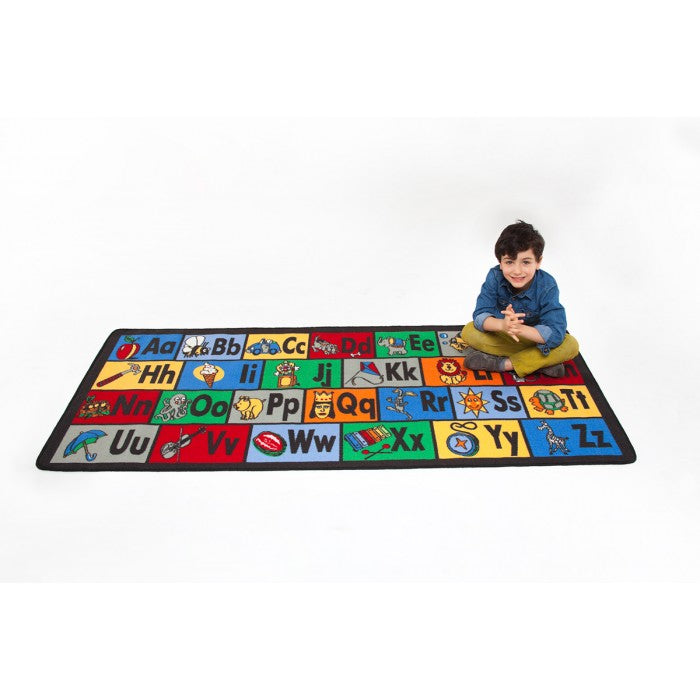 "Learning Carpets Learn the ABC's Rug 36"" x 79"" - LC122 - The Creativity Institute"