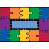 "Learning Carpets 5'10"" x 8'5"" ABC Rainbow Puzzle Rug - CPR450"