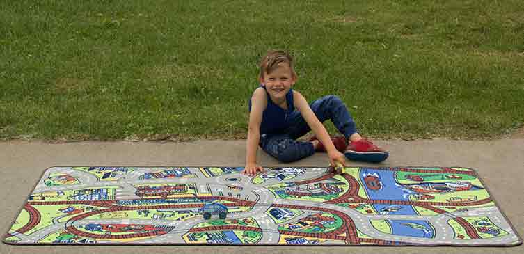 "Learning Carpets Ride the Train Rug - 36"" x 79"" - LC142"
