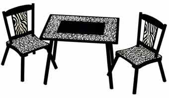 Levels of Discovery Wild Side Table & 2 Chair Set LOD71002