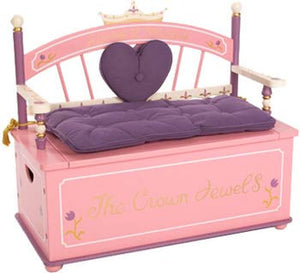 Levels of Discovery LOD20007 Princess Bench Seat with Storage
