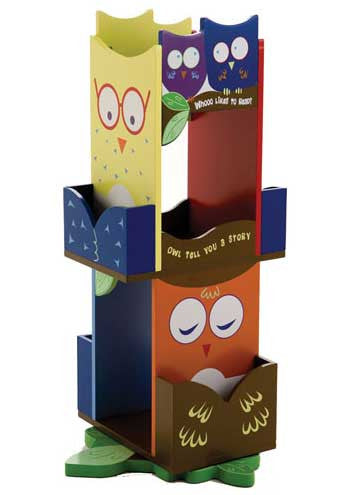 Levels of Discovery LOD20059 Owls Revolving Bookcase