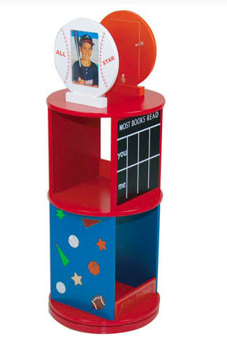 Levels of Discovery LOD20048 All Star Sports Revolving Bookcase