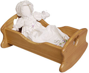 Little Colorado Wooden Doll Cradle - Natural Lacquered Finish - 63N