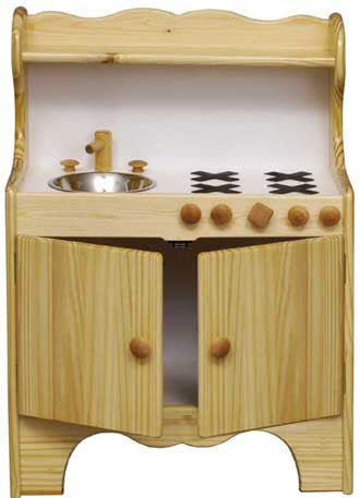 Little Colorado Wooden Kid's Kitchen Center Natural Finish - 92N