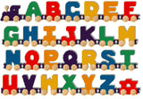 Maple Landmark Wooden Bright A-Z NameTrain Alphabet Train