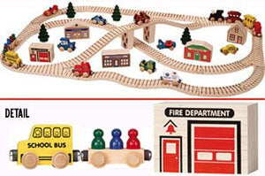 Maple Landmark Wooden Town Train Activity Set - 11240