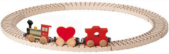 Valentine Train Wooden 3-Car NameTrain