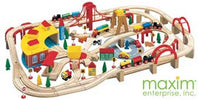 Maxim 145 Piece Wooden Train Set - 50226