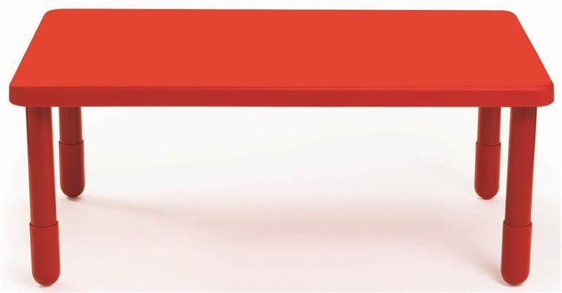 "Angeles 48"" x 28"" Rectangle Value Table 16"" Legs - Candy Apple Red"