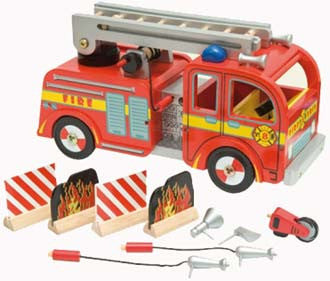 Le Toy Van Budkins Fire Engine Playset - TV427