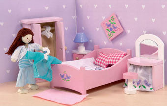 Le Toy Van ME050 Sugar Plum Bedroom Dollhouse Furniture