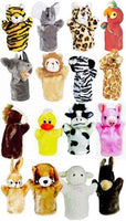 Get Ready Kids PlushPups Set of 16 Animal Character Hand Puppets and 3 Scripts