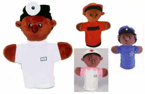 Get Ready Kids 4 African-American Community Helper Puppets and Script