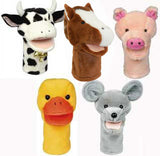 Get Ready Kids Set of Five Bigmouth Farm Animal Puppets and Script