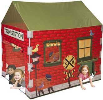 Pacific Play Tents Grand Central Train Station House Play Tent - 39650 - The Creativity Institute
