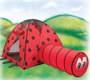 Pacific Play Tents 20420 Lady Bug (Ladybug) Tent and Tunnel Combo