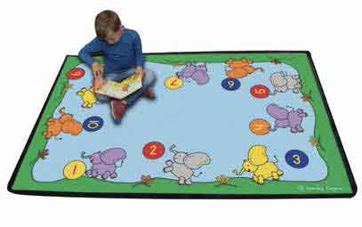 "Learning Carpets Playful Numbers 1-10 Rug 4'8"" x 5'10"" - CPR276 - The Creativity Institute"