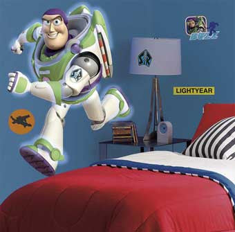 RoomMates RMK1431GM Toy Story 3 Buzz Lightyear Glow-in-Dark Giant Wall Decal