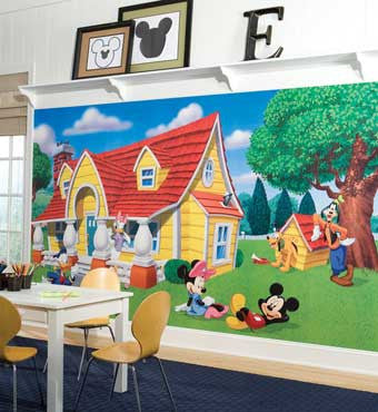RoomMates Mickey & Friends XL Wall Mural 6' x 10.5' - JL1222M