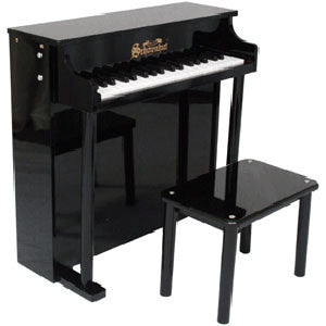 Schoenhut 6637B 37-Key Traditional Deluxe Spinet Toy Piano - Black