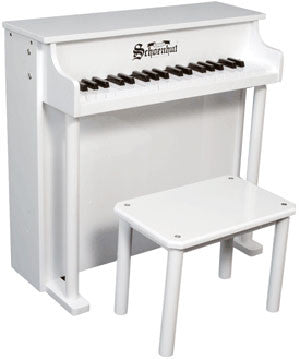 Schoenhut 6637W 37-Key Traditional Deluxe Spinet Toy Piano - White