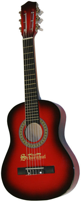 Schoenhut 605RB Student Acoustic 3/4 Guitar - Red-Black Finish