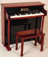 Schoenhut 6637MB 37-Key Traditional Deluxe Spinet Toy Piano - Mahogany and Black
