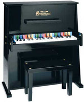 Schoenhut 37 Key Daycare Durable Toy Piano - Black - 3798B