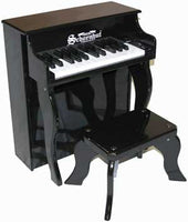 Schoenhut 25 Key Elite Spinet Toy Piano Includes Bench - Black - 2505B