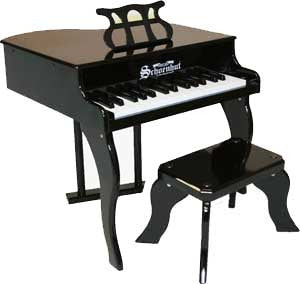 Schoenhut 3005B 30-Key Fancy Baby Grand Toy Piano - Black