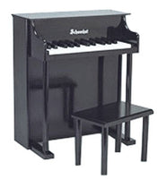Schoenhut 25 Key Traditional Spinet Toy Piano - Black - 6625B