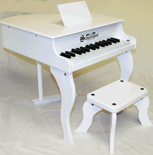 Schoenhut 3005W 30-Key Fancy Baby Grand Toy Piano - White
