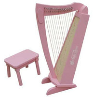 Schoenhut 15-String Harp Includes Bench - Pink - C1019P