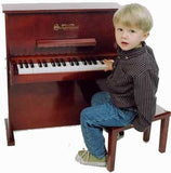 Schoenhut 37 Key Daycare Durable Toy Piano - Mahogany - 3798M
