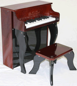 Schoenhut 2505MB 25-Key Elite Spinet Toy Piano - Mahogany and Black