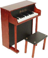 Schoenhut 6625MB 25-Key Traditional Spinet Toy Piano - Mahogany and Black