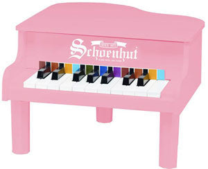 Schoenhut 189P 18-Key Mini Grand Toy Piano - Pink - The Creativity Institute