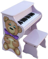 Schoenhut 9258TB Piano Pals Teddy Bear Toy Piano