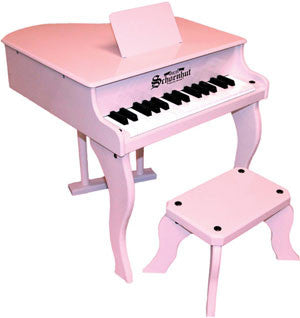 Schoenhut 3005P 30-Key Fancy Baby Grand Toy Piano - Pink