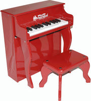 Schoenhut 2505R 25-Key Elite Spinet Toy Piano Includes Bench - Red